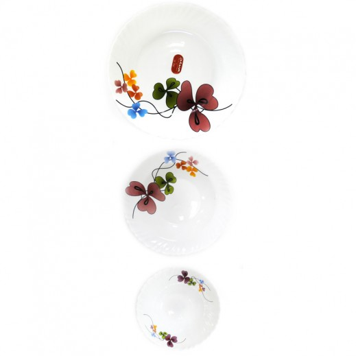 لا أوبالا –  طقم لتقديم الطعام مزخرف بالزهور 15 حبة