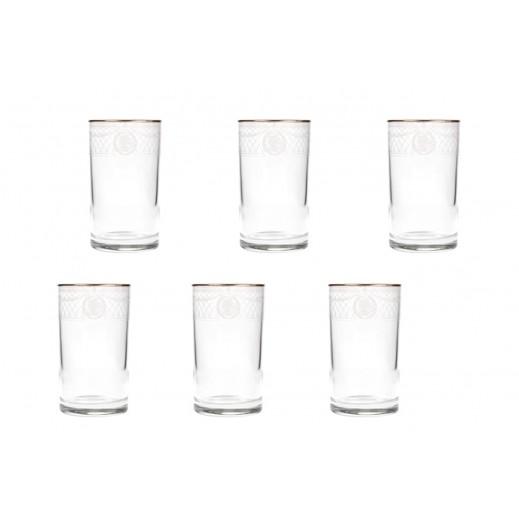 بنجوين – طقم أكواب مياه 6 قطعة - فضي