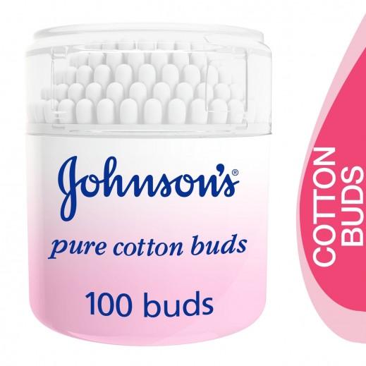 جونسون – عيدان قطنية نقية - 100 عود