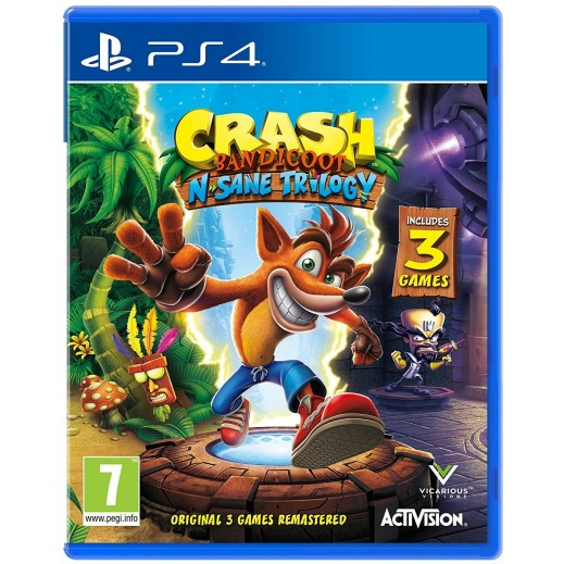 لعبة Crash Bandicoot N. Sane Trilogy لبلاي ستيشن 4 – نظام PAL