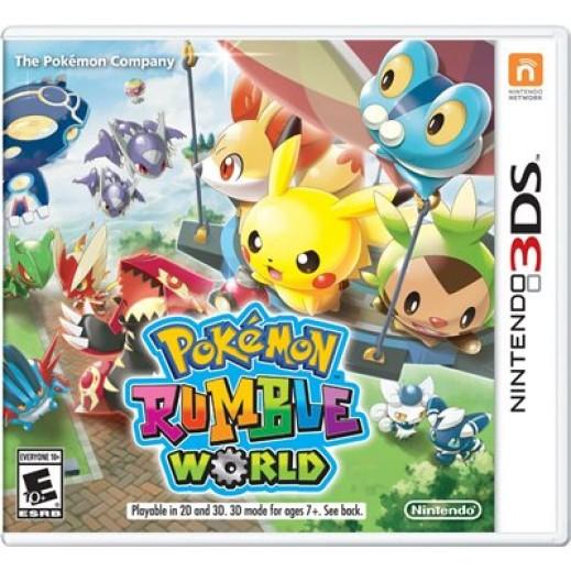 لعبة POKEMON RUMBLE WORLD لجهاز نينتندو 3DS نظام NTSC