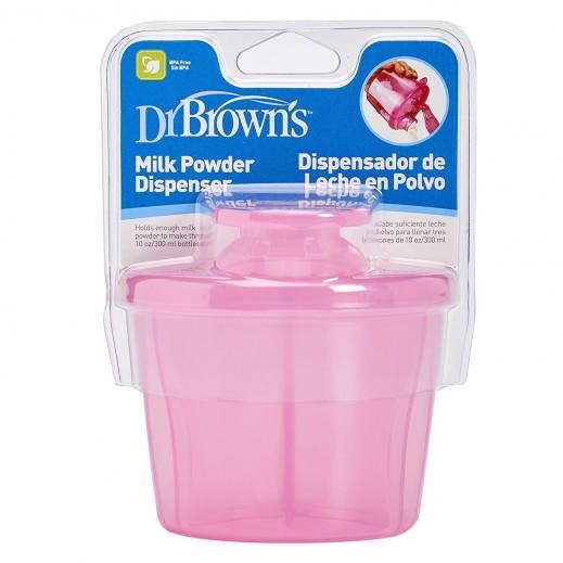 دكتور براونز – موزع مسحوق حليب الأطفال – وردي