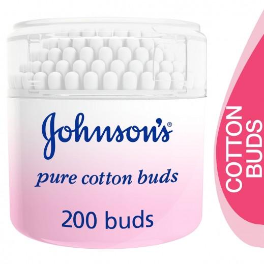 جونسون - عيدان قطنية نقية - 200 عود