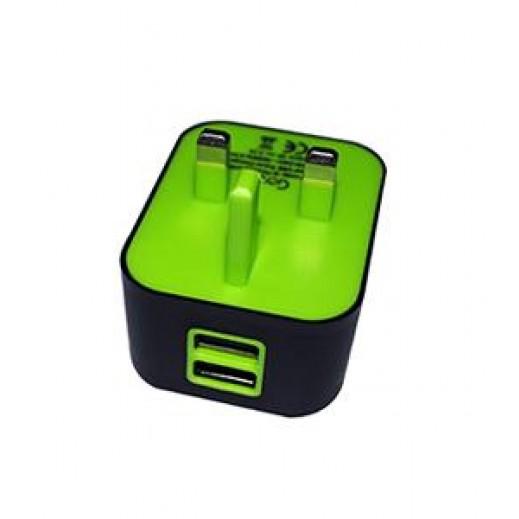 شاحن للسفرGOUI SPOT قوة عالية مع كيبل من USB الى LIGHTNING - أسود