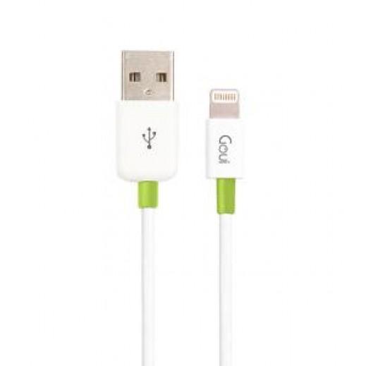 كيبل GOUI من LIGHTNING 8 PIN الى USB طول 3 متر - ابيض