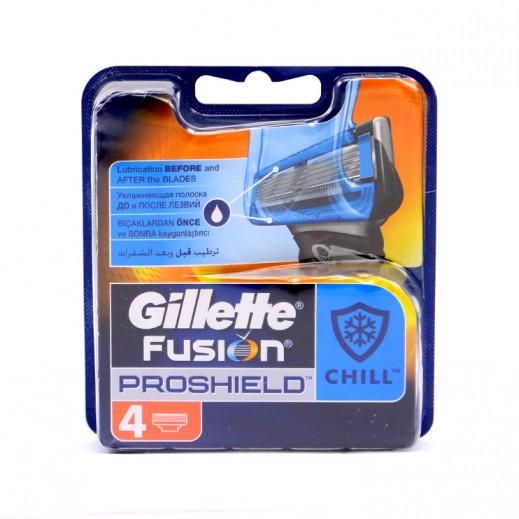 جيليت – شفرات ماكينة حلاقة فيوجن بروشيلد 4 حبة