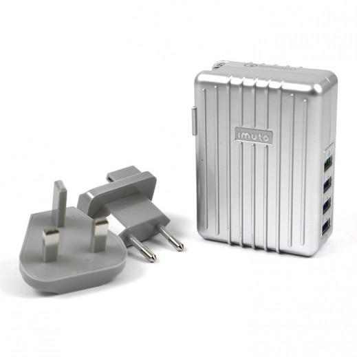 آيموتو – منصة شحن سريع 4 منفذ USB - فضي
