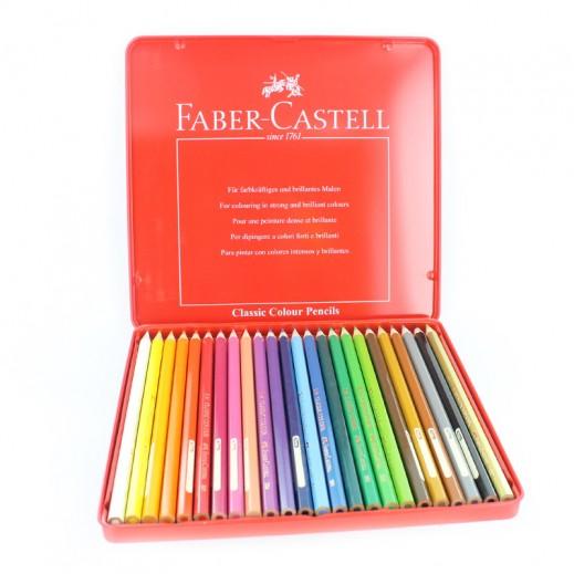فابر كاستيل – أقلام ألوان خشبية 24 حبة
