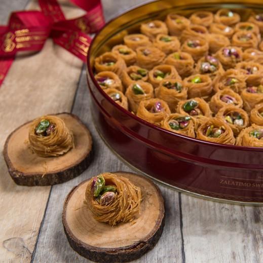 عش البلبل بالفستق 1كجم - يتم التوصيل بواسطة Zalatimo Sweets