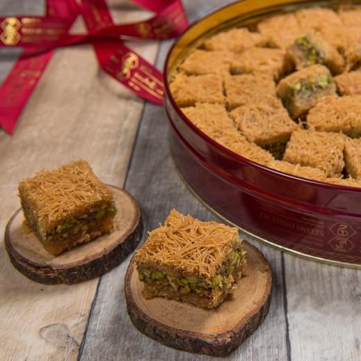 نابلسية بالفستق 1كجم - يتم التوصيل بواسطة Zalatimo Sweets