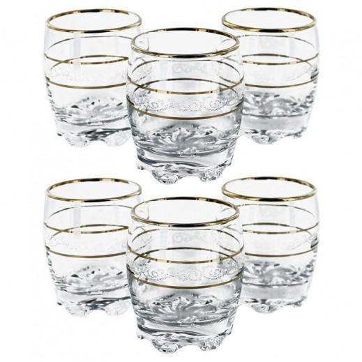 جورالار سلطان - طقم أكواب زجاجية 80 مل - 6 حبة