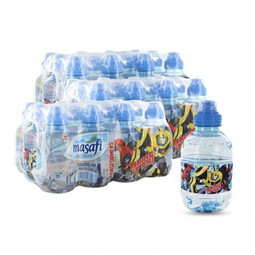 مسافي – مياه معدنية  طبيعية (عبوة رياضية - ترانسفورمرز) 200 مل (3 × 12)- أسعار الجملة