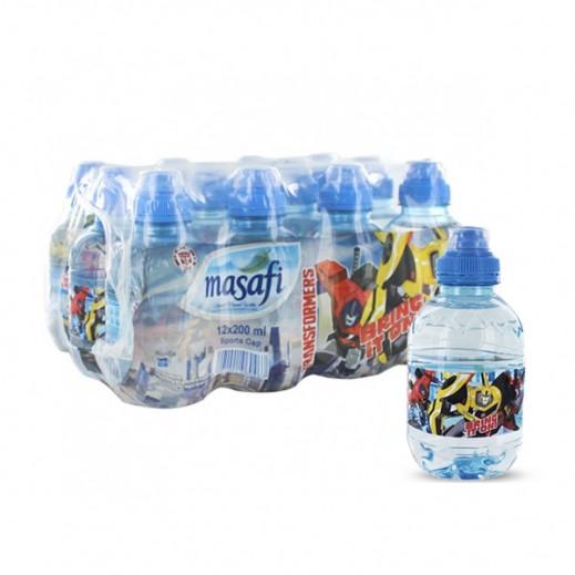 مسافي – مياه معدنية  طبيعية (عبوة رياضية - ترانسفورمرز) 12 حبة × 200 مل