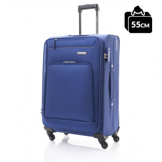 أميريكان تورستر – حقيبة سفر بروك سبينر أزرق داكن 55 سم