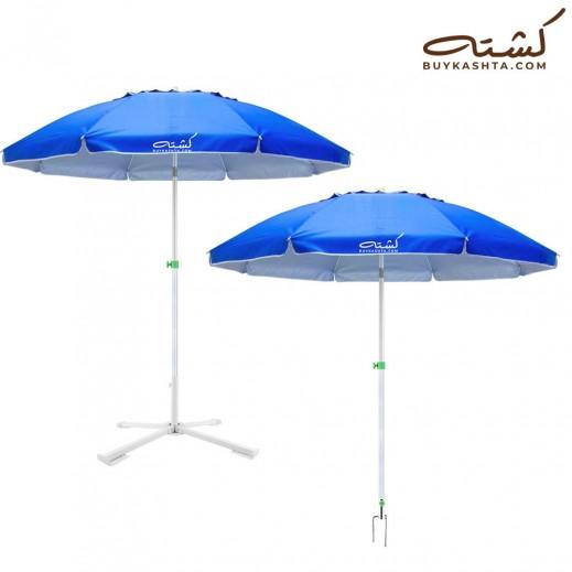 كشته – مظلة شاطئ - أزرق