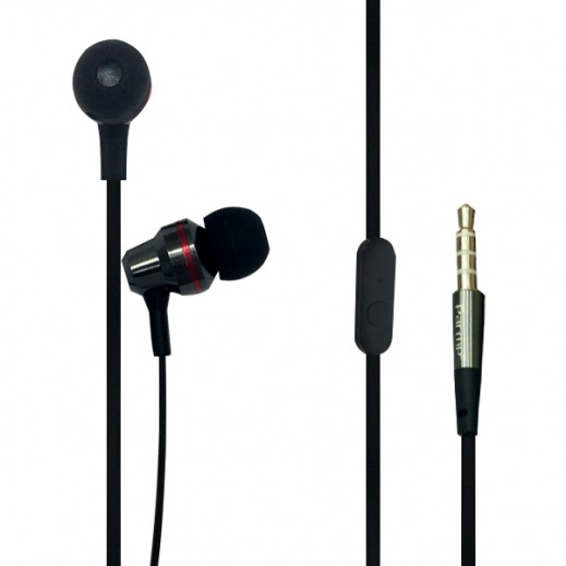 Parmp Inner Set Earphone Aluminum Series Black