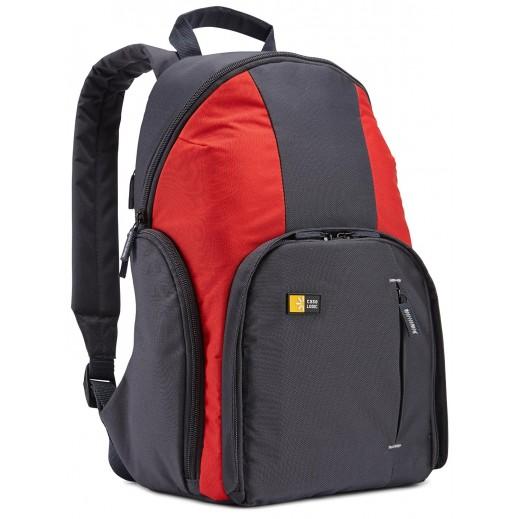 حقيبة كاميرا للظهر مضغوطة CASE LOGIC رمادي/احمر