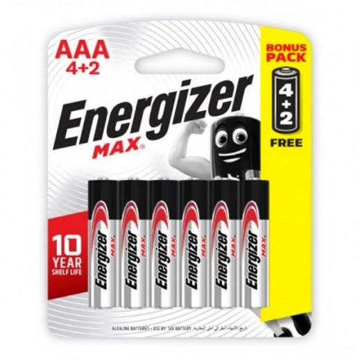 إنرجايزر – بطارية الكالين AAA حجم 1.5 فولت – عبوة 4+ 2 مجانا