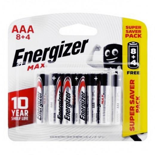 إنرجايزر – بطارية الكالين AAA حجم 1.5 فولت – عبوة 8+4 مجانا