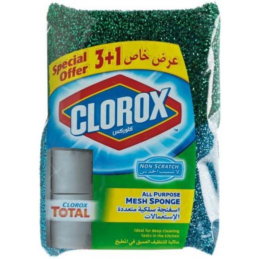كلوروكس - اسفنجة سلكية متعددة الاستعمالات (3+1 مجانا)