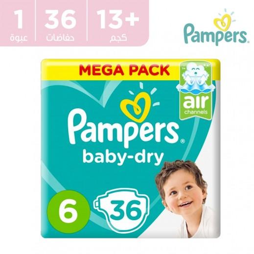 بامبرز - حفاضات Baby-Dry مقاس 6 كبير جداً +13 كجم 36 حفاضة