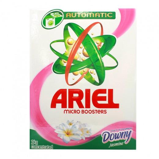 """آريال – مسحوق الغسيل الأخضر للغسالات الأوتوماتيك """" لمسة داوني و ياسمين """" 3 كجم"""