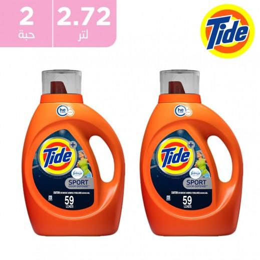 تايد+ منظف سائل أكتيف فريش سبورت لحماية اللون 2.72 لتر
