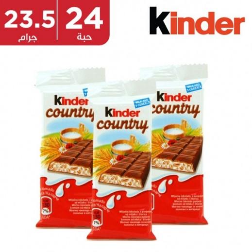 كيندر كانتري شوكولاتة بالنوجة 24 × 23.5 جم