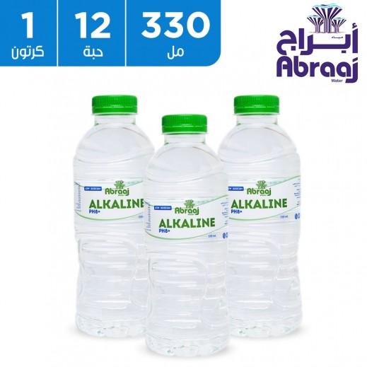 أبراج – مياه شرب قلوية 12 × 330 مل (PH8+)