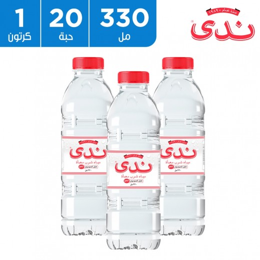 ندى مياه شرب قليلة الصوديوم 20 × 330 مل (PH7)