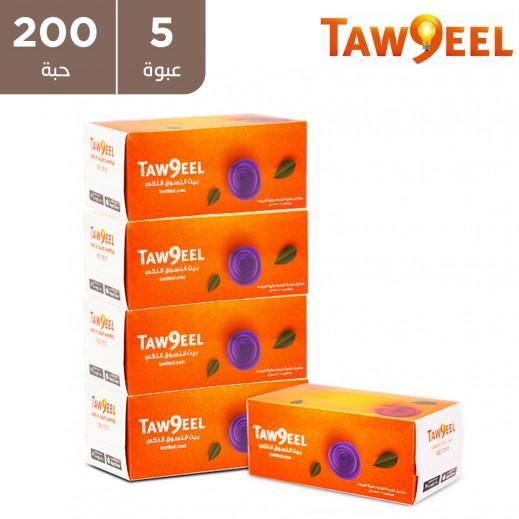 توصيل - مناديل للوجة 200 منديل ( 5 حبة )