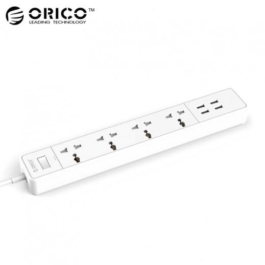 اوريكو – محول كهربائي 4 منافذ USB و 4 منافذ شحن – ابيض