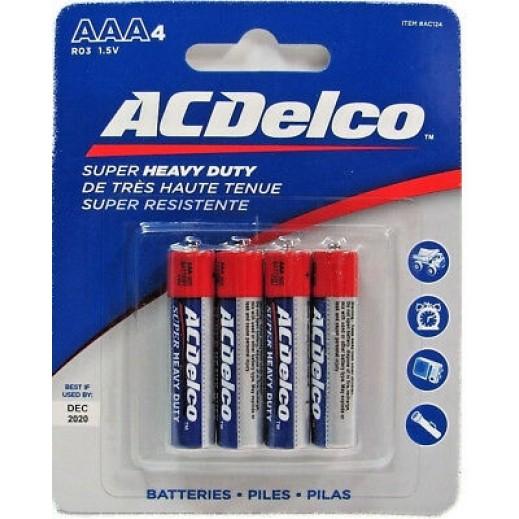 """أي سي ديلكو – بطارية """"Heavy Duty"""" قياس AAA قوة 1.5 فولت عبوة 4 حبة"""