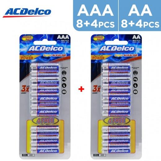 أي سي ديلكو – بطارية ألكالين AA قوة 1.5 فولت عبوة 8+4 حبة مجاناً