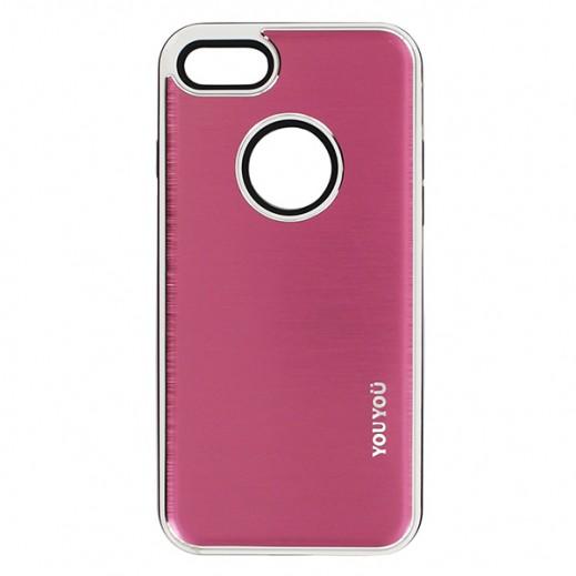 يويو – غطاء حماية خلفي لأي فون 7 – وردي