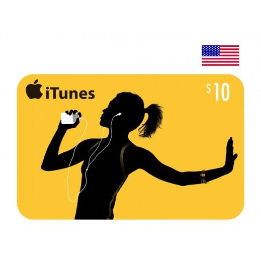 بطاقة أي تونز بقيمة 10 دولار حساب أمريكي - إستلم فورا على بريدك الإلكتروني