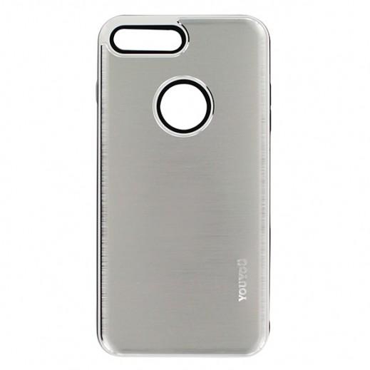 يويو – غطاء حماية خلفي لأي فون 7 Plus – فضي