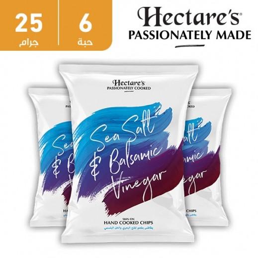 هيكترز - رقائق بطاطس بطعم الملح البحري والخل 6 × 25 جم