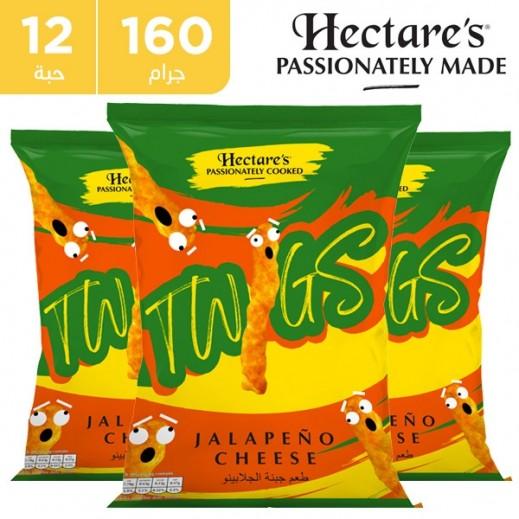هيكترز - سناك الذرة تويجز بطعم الجبنة والجلابينو 12 × 160 جم
