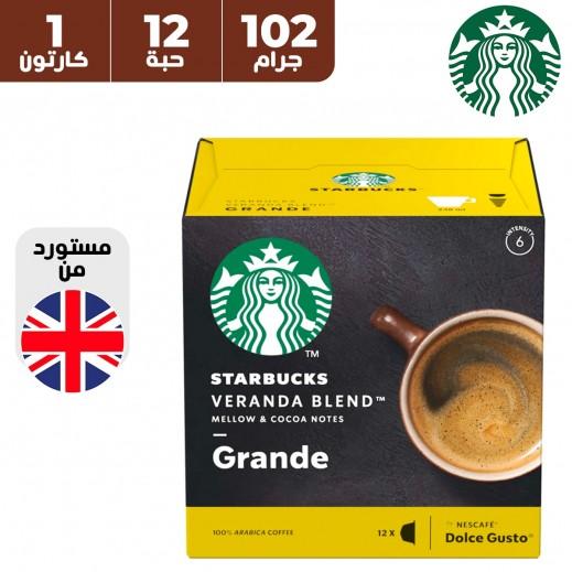 ستاربكس قهوة فيراندا بليند من نسكافيه دولشي جوستو 12 كبسولة 102 جم