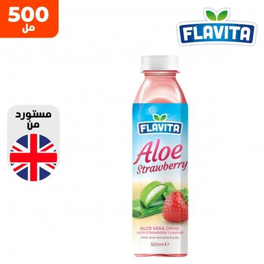 فلافيتا مشروب فراولة وصبار 500 مل