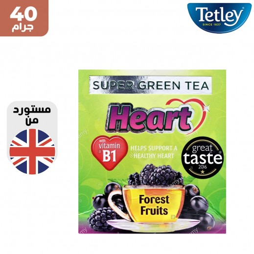 تتلي شاي اخضر سوبر فاكهة قلب الغابة 40 جم