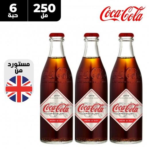كوكاكولا سبيشياليتي مشروب غازي بنكهة التفاح و زهرة الخمان 6 × 250 مل
