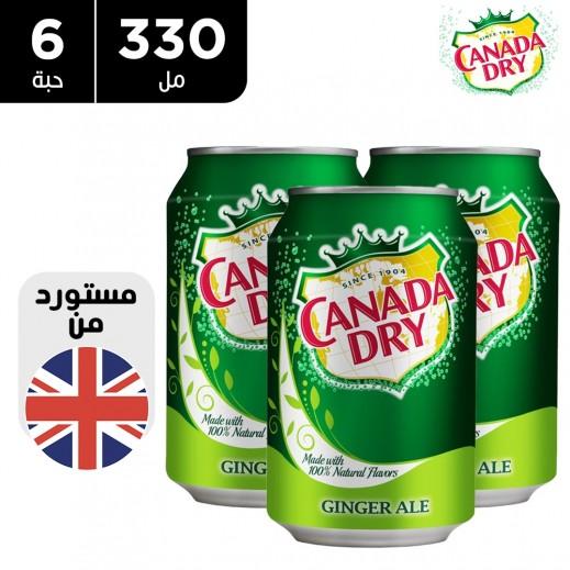 كندا دراي مشروب غازي ينكهة الزنجبيل 6 × 330 مل