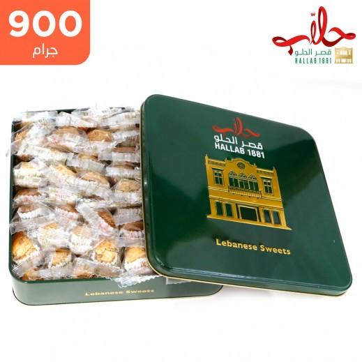 حلويات حلاب مشكل بقلاوة نباتية علبة 900 جم