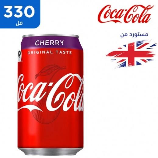 كوكا كولا – مشروب غازي كولا بنكهة الكرز 330 مل