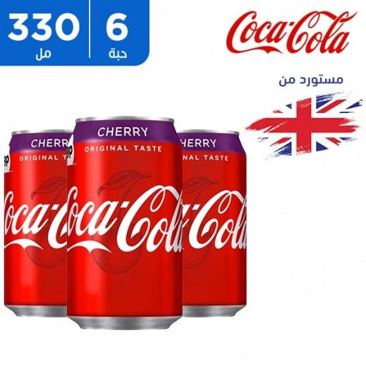 كوكا كولا – مشروب غازي كولا بنكهة الكرز 6 × 330 مل