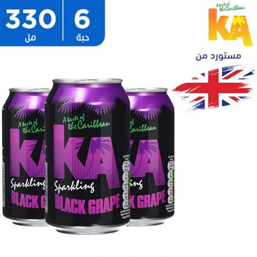 كي اي – مشروب فوّار بنكهة العنب الأسود 6 × 330 مل