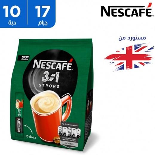 نسكافيه – قهوة سترونج سريعة التحضير 3 في واحد - 10 كيس × 17 جم