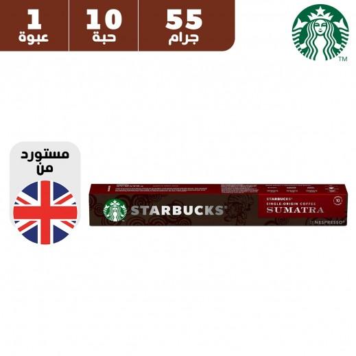 ستاربكس – قهوة نسبرسو سومطرة سنجل اوريجين 10 كبسولة 55 جم